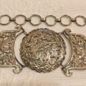 Silver Tone Ornate Belt